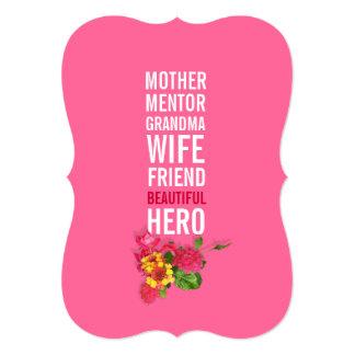 50th Birthday Party Invitation - Mom is a Hero