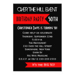 50th Birthday Party Invitation - Over the Hill Cards