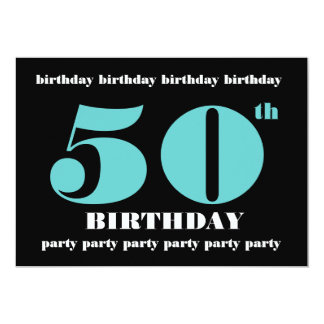 50th Birthday Party Invitation Template