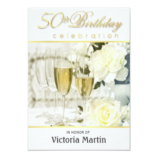 50th Birthday For Her Invitations Announcements Zazzle