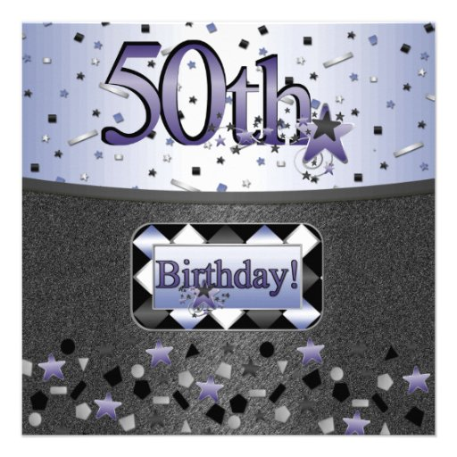 50TH BIRTHDAY PARTY INVITATIONS FOR HIM OR HER 5.25