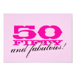50th Birthday Party invitations for women