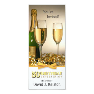 50th Birthday Party Invitations - Golden Birthday
