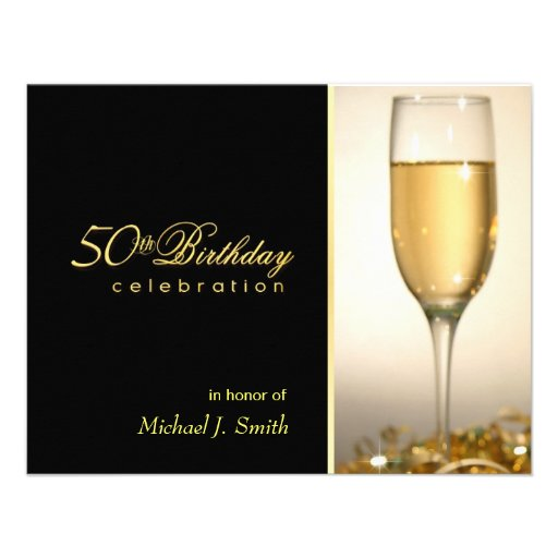 50th Birthday Party Invitations - Manly Monogram
