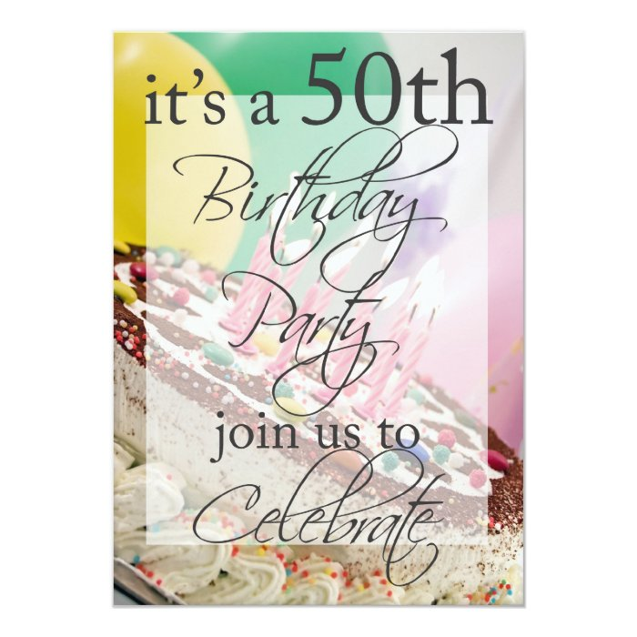 50th Birthday Party Personalized Invitation
