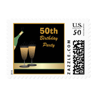 50th Birthday Party Postage