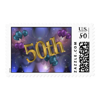 50th Birthday party postage stamp