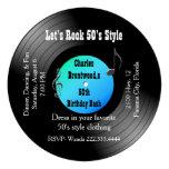 50th Birthday Party Record Invitation