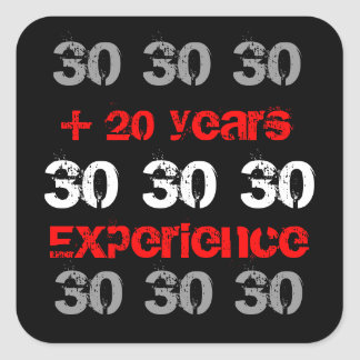 50th Birthday Party Stickers Red Black and White