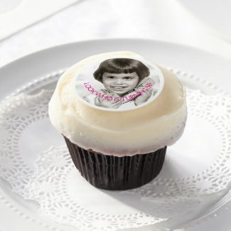 50th Birthday Party - Your Photo On Edible Frosting Rounds