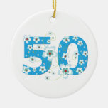 50th birthday personalised name gift ornament