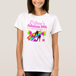 50TH BIRTHDAY PERSONALIZED SHOE LOVER TEE