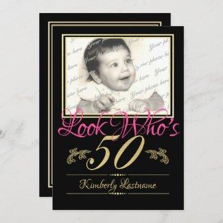 50th Birthday Photo Invitation