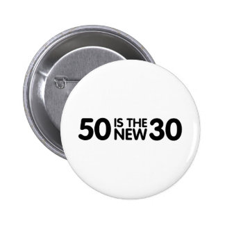 50th birthday pinback button