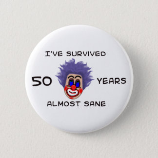 50th Birthday Pinback Button