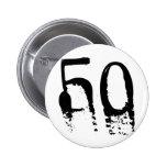 50th Birthday Pins