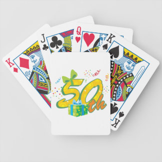 50th Birthday Playing Cards