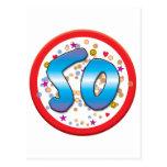 50th Birthday Post Card