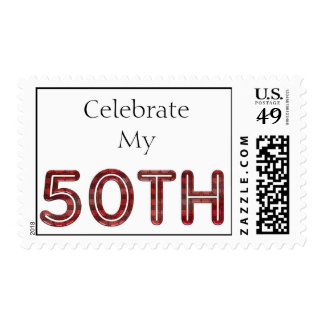 50th Birthday Postage Stamp Template