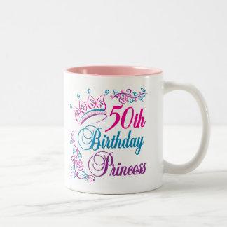 50th Birthday Princess Coffee Mugs
