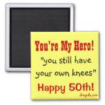 50th Birthday Quote Fridge Magnets