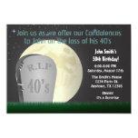 "50th Birthday RIP 40s Invitation 5"" X 7"" Invitation Card"