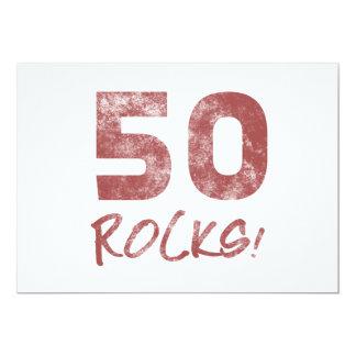 50th Birthday Rocks 5x7 Paper Invitation Card