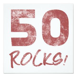 50th Birthday Rocks Invitation