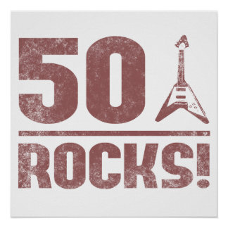 50th Birthday Rocks Poster