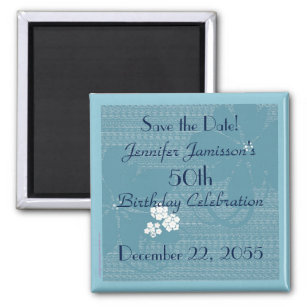 50th birthday save the date refrigerator magnets zazzle