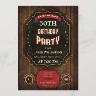 50th Birthday Save The Date Cards Zazzle