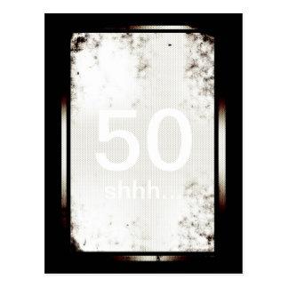 50th Birthday Shhh Minimalist Postcard