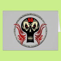 50th Birthday Skull Cards