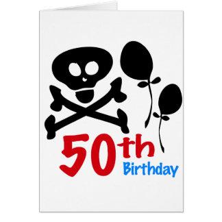 50th Birthday Skull Crossbones Card