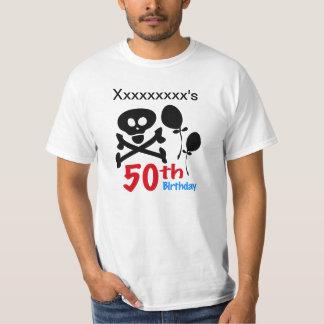 50th Birthday Skull Crossbones T-Shirt