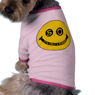 50th birthday Smiley Face, It's only a number! Dog Tee Shirt