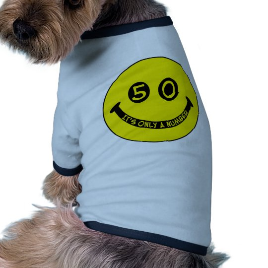 50th birthday Smiley Face, It's only a number! Shirt