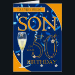 "50th Birthday Son - Champagne Glass Card<br><div class=""desc"">50th Birthday Son - Champagne Glass</div>"