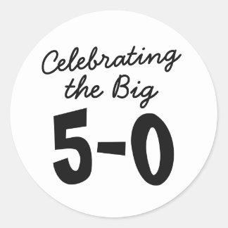 50th Birthday Stickers - Celebrating the Big 50th