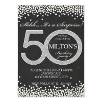 Surprise 50th birthday invitations announcements zazzle 50th birthday surprise party invitation card man filmwisefo Image collections