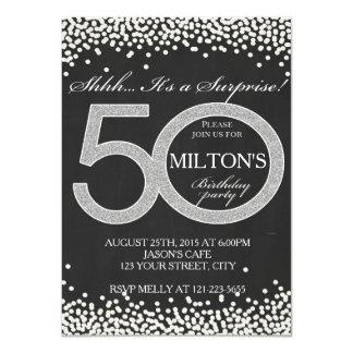 50th Birthday surprise party invitation card man