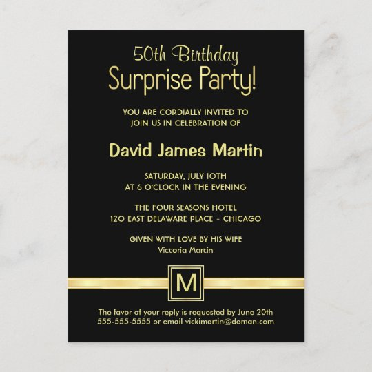 50th Birthday Surprise Party Sample Invitations Zazzle Com