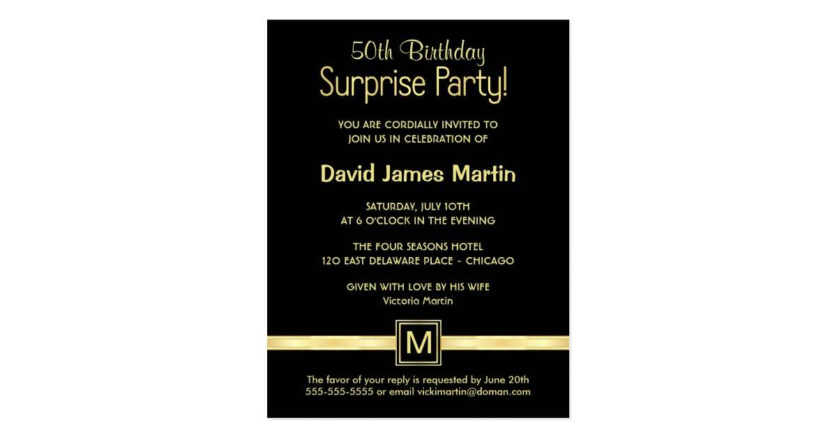 50th Birthday Surprise Party - Sample Invitations | Zazzle.com