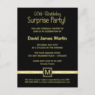 Sample invitations zazzle 50th birthday surprise party sample invitations stopboris Choice Image