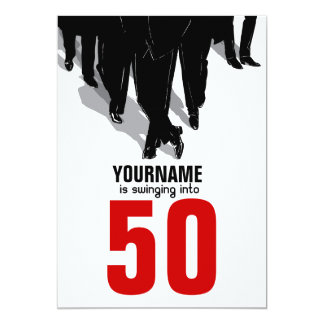 50th Birthday Swingers Rat Pack Party Card
