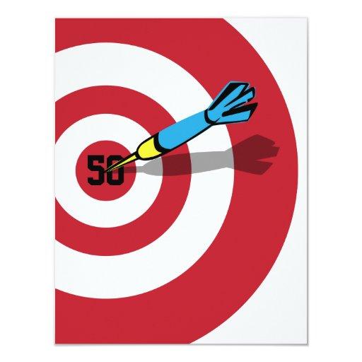 50th Birthday - Target Bullseye Invitation  Zazzle