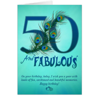 50th Birthday template Cards