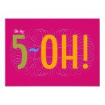 "50th Birthday - the Big 5-OH! 5"" X 7"" Invitation Card"