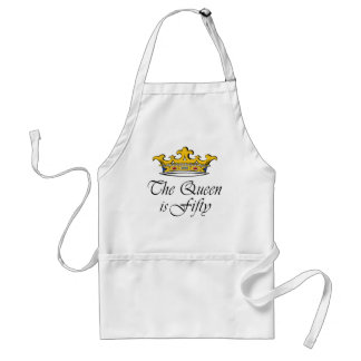 50th birthday The Queen is 50! Adult Apron