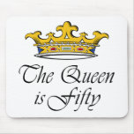 50th birthday The Queen is 50! Mouse Mats